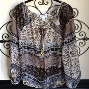 carmen marc valvo size small beautiful blouse